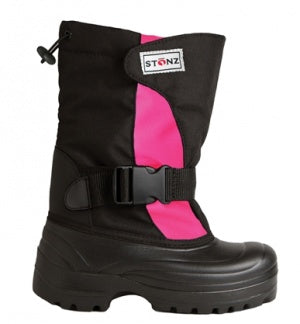 Stonz Winter Bootz Slate - Pink/Black