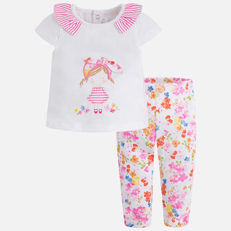 Mayoral Baby Legging Set Fuchsia