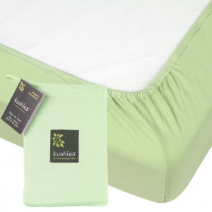 Kushies Change Pad Fitted Sheet Organic Green SO834-01