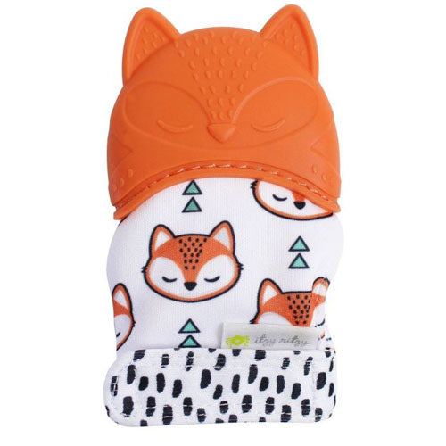 Itzy Ritzy Silicone Teething Mitts Fox