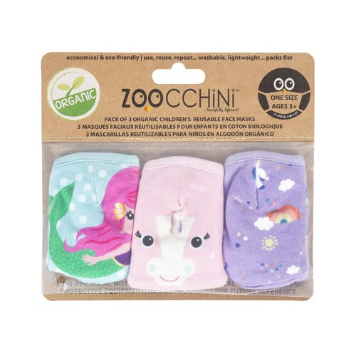 Zoocchini Organic Reusable Mask 3pk - Unicorn Multi