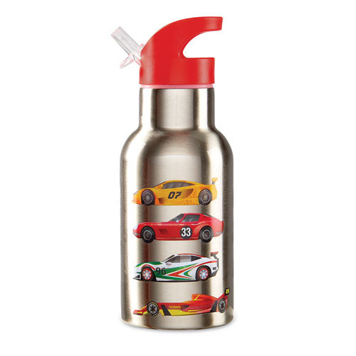 Crocodile Creek Stainless Bottle - Race Cars 10602
