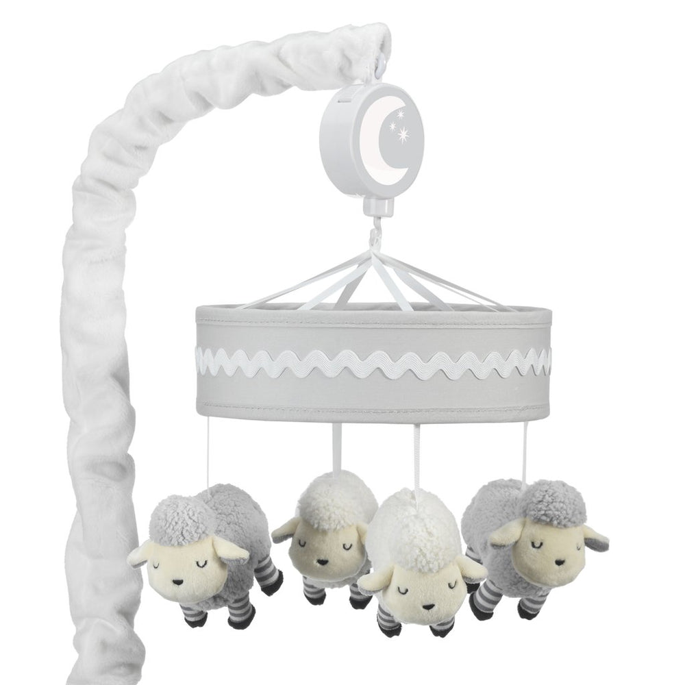 Little Sheep Gray/White Musical Baby Crib Mobile 697018
