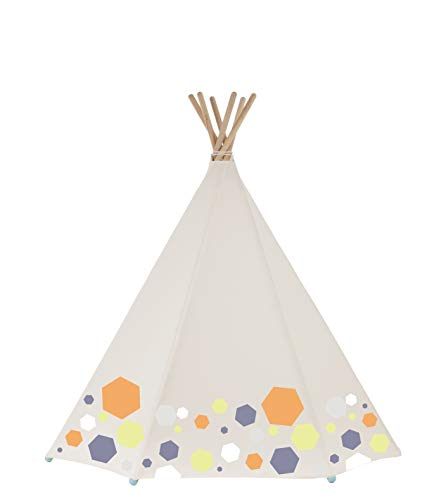 Around The Crib Kampi Tent Geo Color w/LED&Mat (Get Free Star Plush Toy of $33 Value)