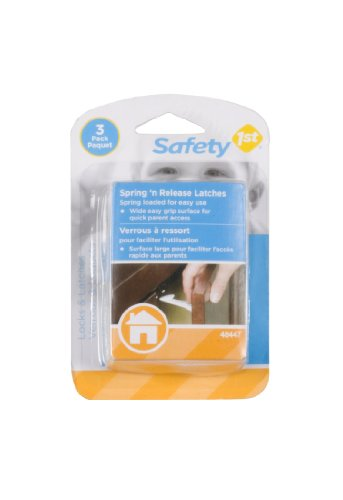 Safety 1st Spring'N Release Latches 3pk 48447