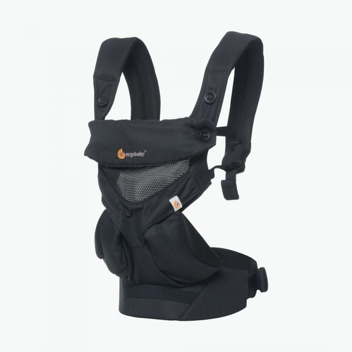 Ergo Baby Carrier 360 Cool Air Mesh Onyx Black (Get Free Teething Pad of $23 Value)