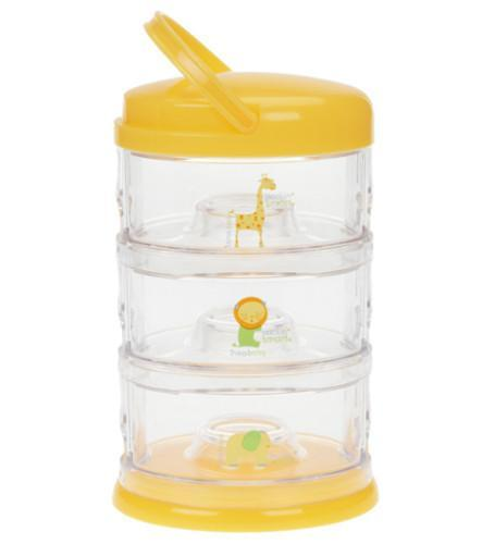 Innobaby Packin' Smart Stackables 3 Tier Zoo Animals - Mango Yellow - CanaBee Baby