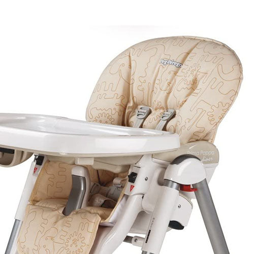 Peg Perego Replacement Seat Cover for Prima Pappa Diner High Chair - Savana Beige