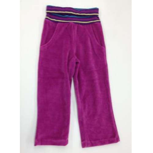 CR KIDS Velour Track Pants With Flod-Down YD Stripe Waste Band