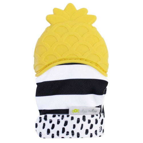 Itzy Ritzy Silicone Teething Mitts Pineapple