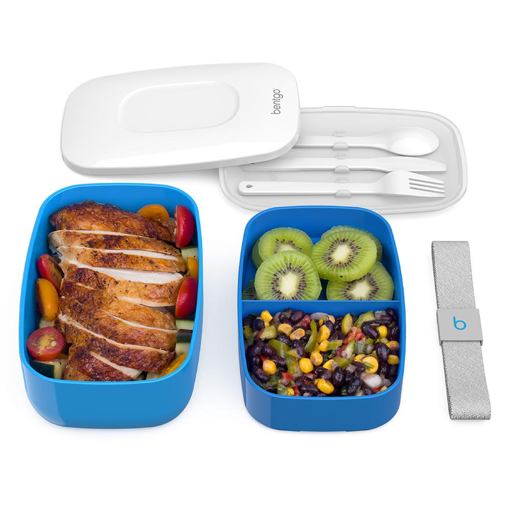 Bentgo Classic Two Tier Lunch Box - Blue BENTGO-B