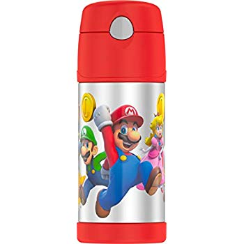 Thermos Funtainer Straw Bottle Super Mario