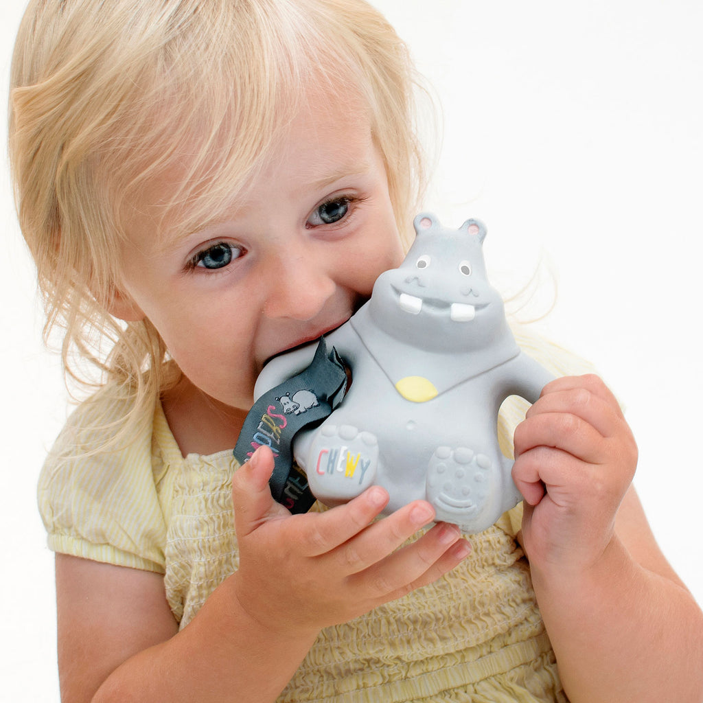 Cheeky Chompers Chewy Hippo Teether