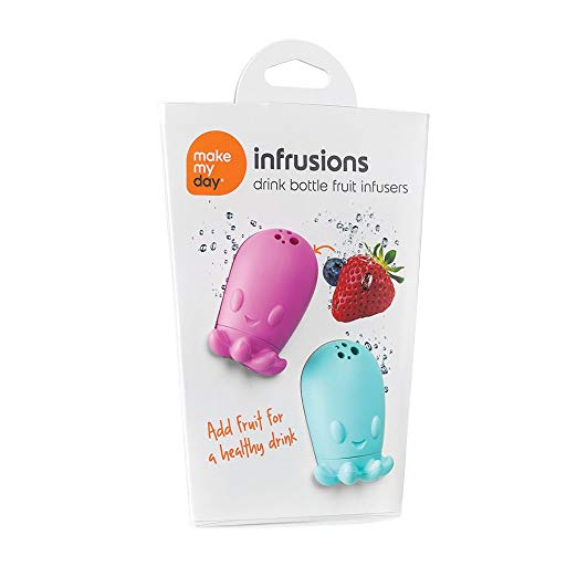 Make My Day Infrusions Drink Bottle Fruit Infusers - Blue/Purple