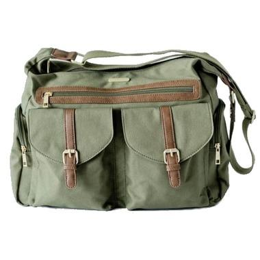 Little Unicorn Rambler Satchel Diaper Bag-Olive