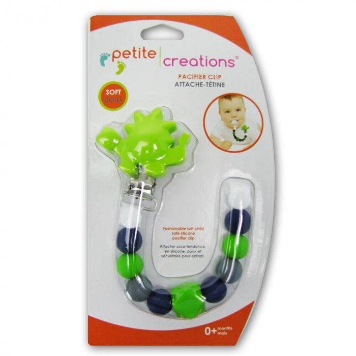 Petite Creations Silicone Pacificer Holder Dinosaur CP086