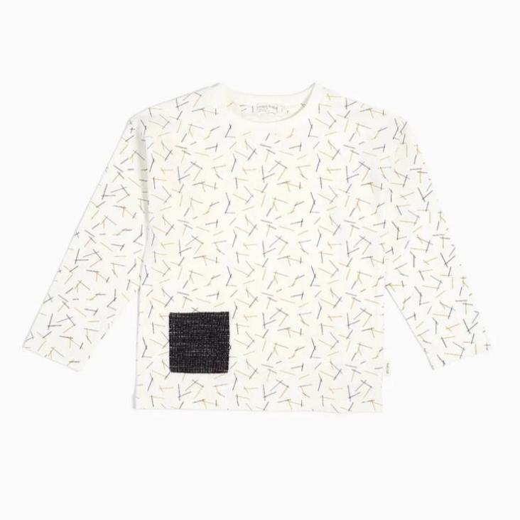 "Miles Baby Off-White ""PASTA"" Long Sleeve Top 2/3 Years Old"