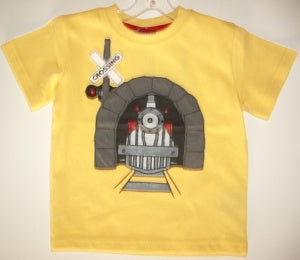 CR SPORTS Infant Boys Train Tee With Tunnel - Yellow