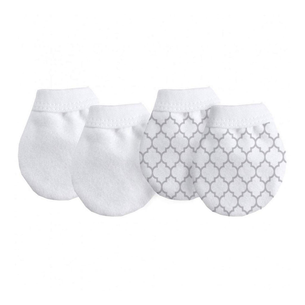 Kushies No Scratch Mittens 2pk Neutral 0-3m