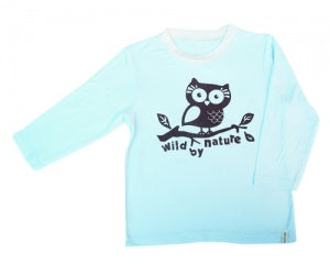 Silkberry Baby Bamboo Boy Owl Tee Sea Breeze - 18M