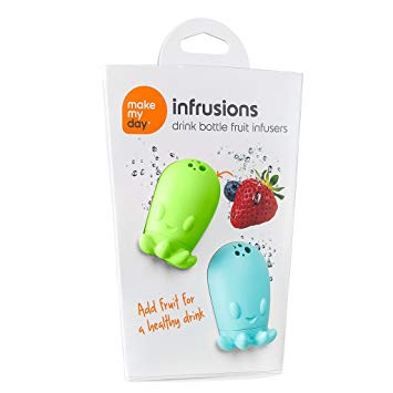 Make My Day Infrusions Drink Bottle Fruit Infusers - Green/Blue