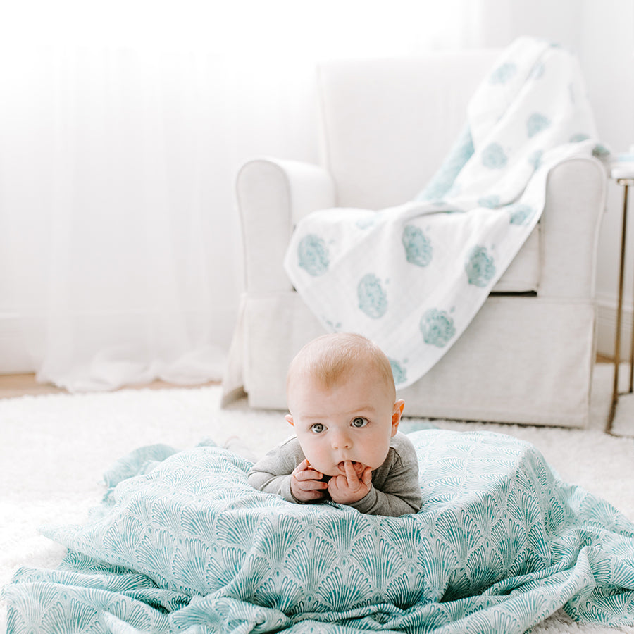 Aden + Anais Classic Dream Blanket - Paisley Teal 6154