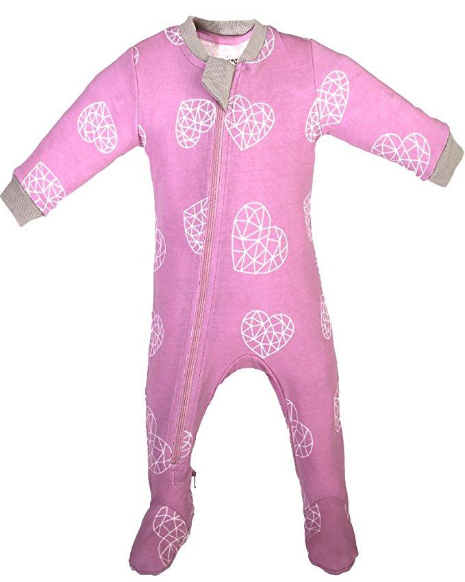 Zippy Jamz Sleeper Heartbreaker Footed Pink 6-9m
