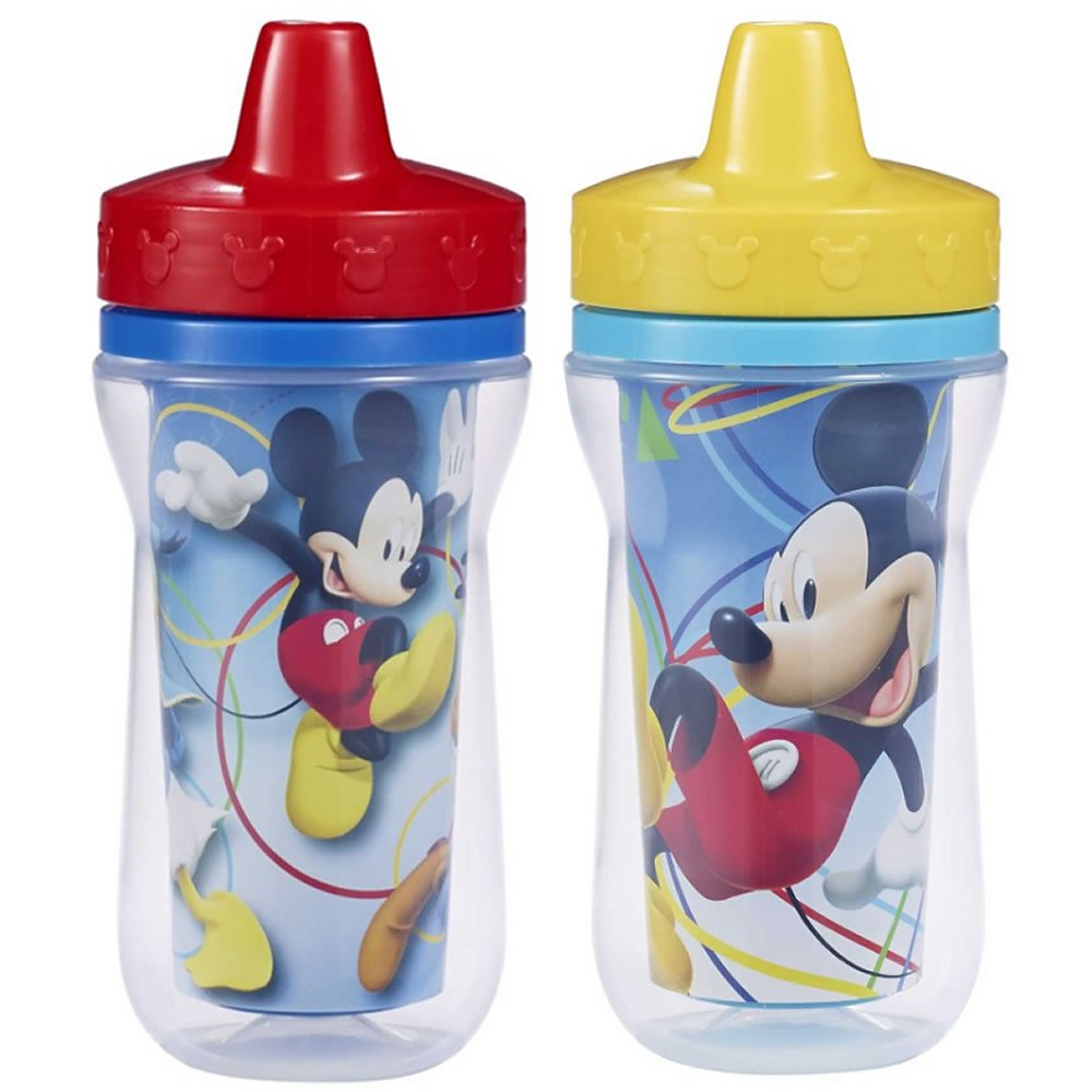 The First Years Mickey Mouse Insulated Sippy Cups 2 Pack