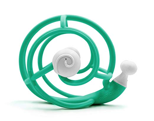 Mombella Snail Rattle Teether Teal 20048