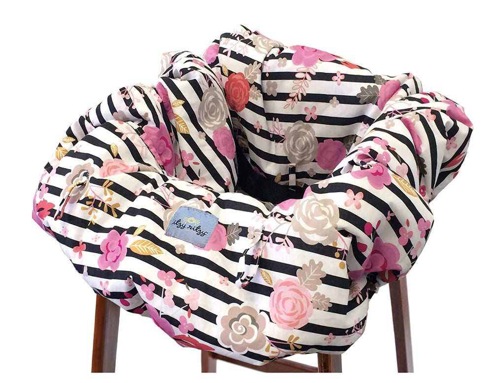Itzy Ritzy Shopping Cart &High Chair Cover Floral Stripe GC8151