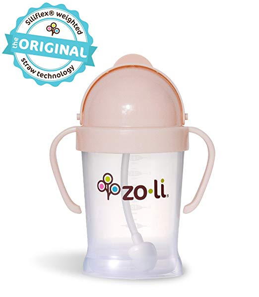 Zoli BOT 6oz Straw Sippy Cup Blush