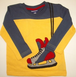 CR SPORTS Long Sleeve Hockey Skate Tee - Yellow