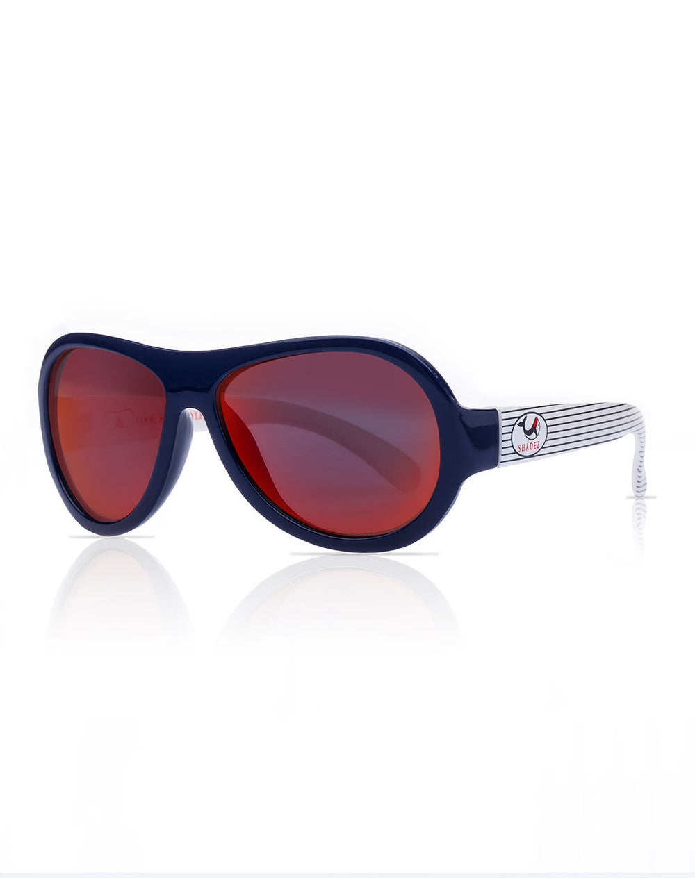 Shadez Junior Sunglasses Whale Navy Stripes - 3-7years