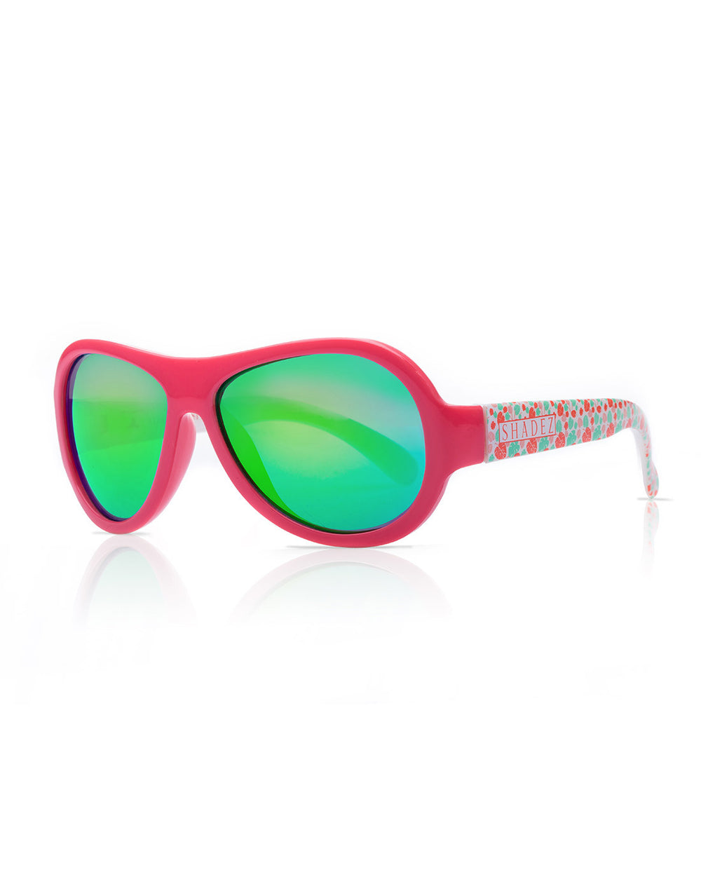 Shadez Sunglasses Leaf Print Pink 3-7yrs
