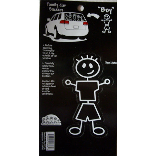 Family Car Stickers (Basic Boy)