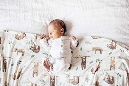 Copper Pearl Knit Swaddle Blanket Noah