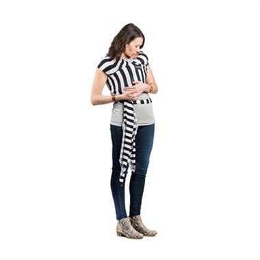 Milk Snob Wrap - Black and White Signature Stripes