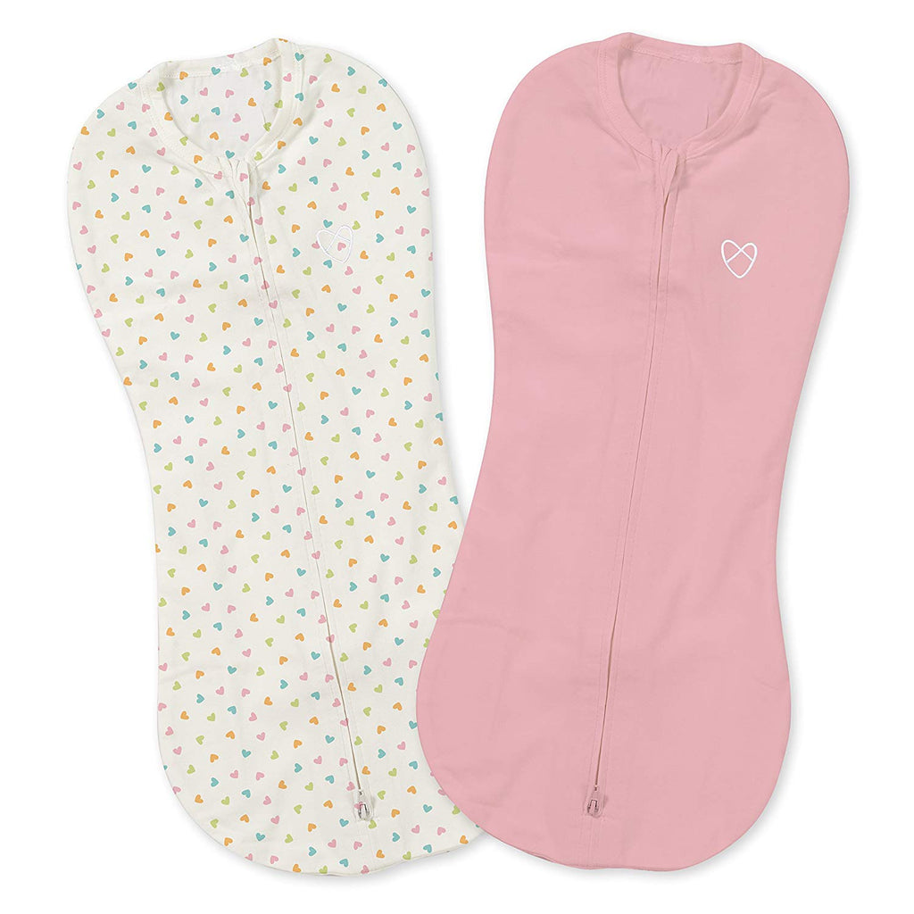 Summer Infant SwaddlePod White Heart/Pink 2pk 5-10lb (87594)