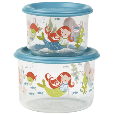 Sugarbooger Good Lunch Snack Containers Small Set-of-Two- Isla the Mermaid