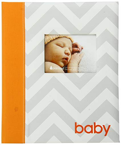 Pearhead Babybooks Chevron Orange