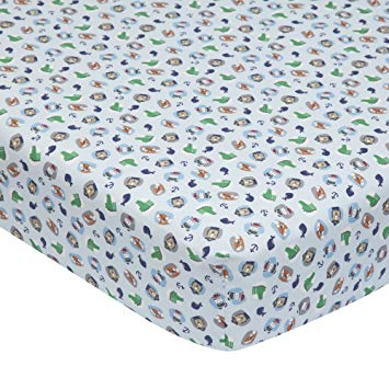 Lambs & Ivy Little Pirates Fitted Sheet 576006B