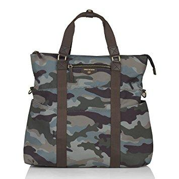 Twelve Little Unisex 3-in-1 Foldover Tote - Camo Olive