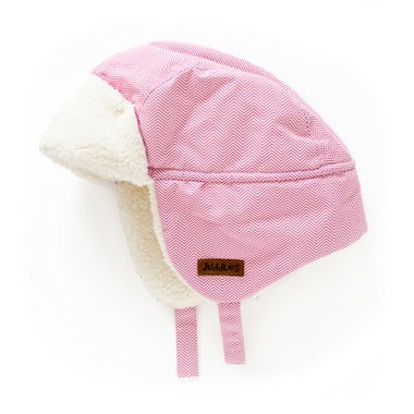 Juddlies Winter Hats Herringbone Pink