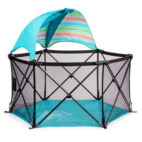 Summer Infant Pop N Play Ultimate Playard with Canopy - Aqua