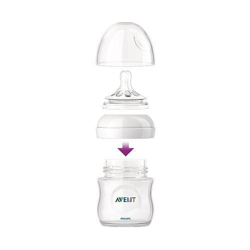 Avent Natural Feeding Bottle 4oz 3pk