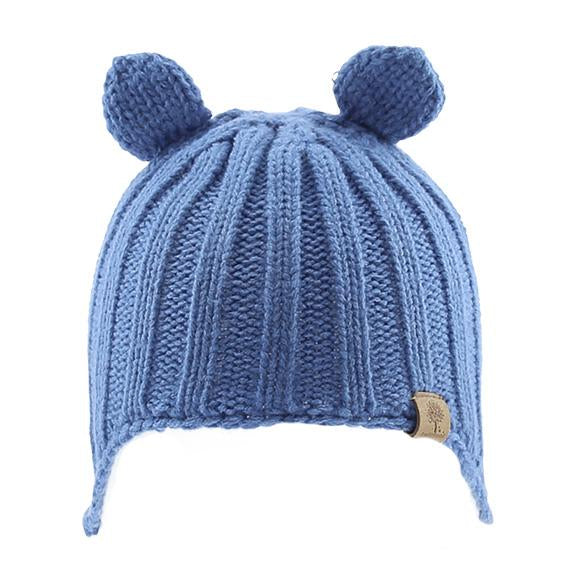 Bedford Knitted Beanie w/ Ear Cover Blue