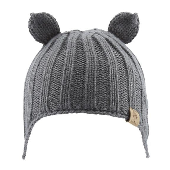 Bedford Knitted Beanie w/ Ear Cover Grey