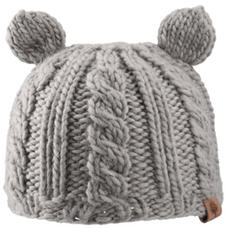 Bedford Road Knitted Hat With Ears Grey - CanaBee Baby