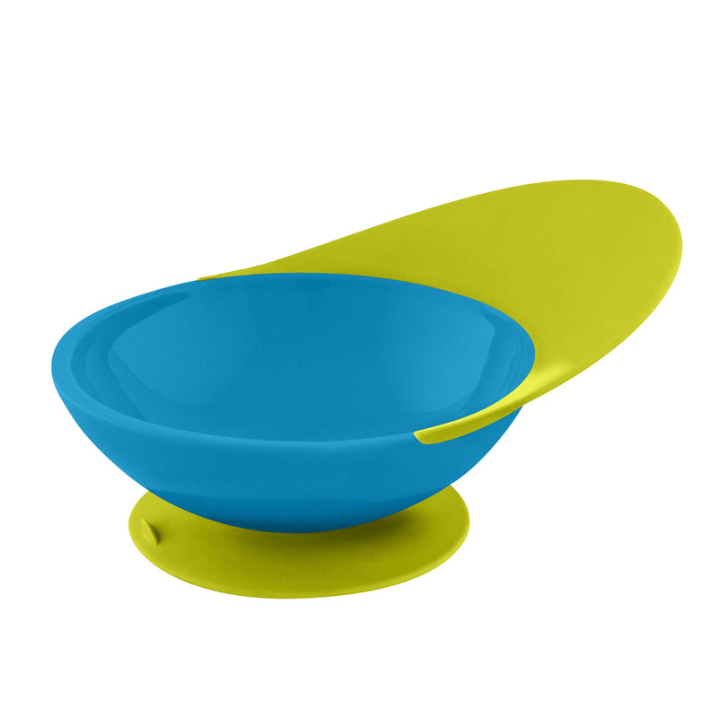 Boon Catch Bowl with Spill Catcher - Blue/Green