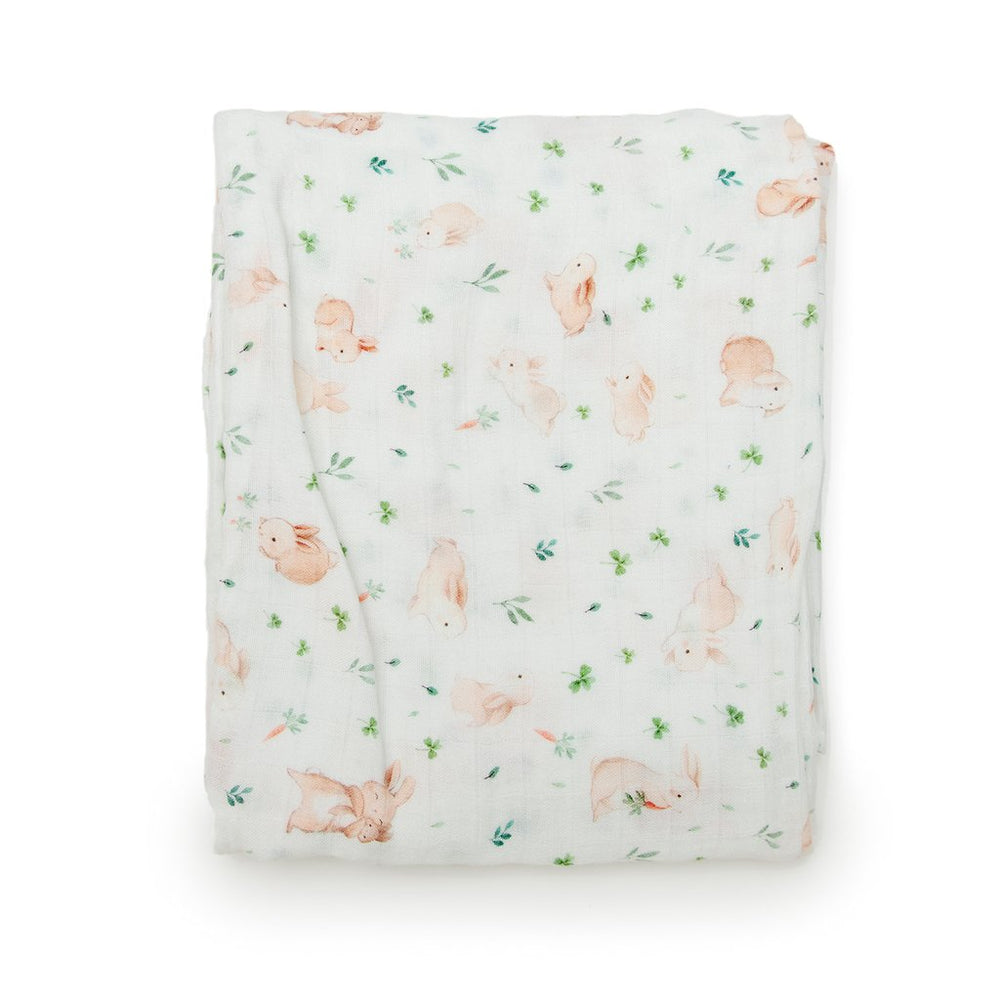 Loulou Lollipop Fitted Crib Sheet Bunny Meadow